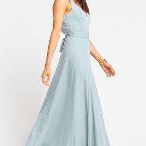 Show Me Your MuMu Jenn Maxi Dress Silver Sage Med